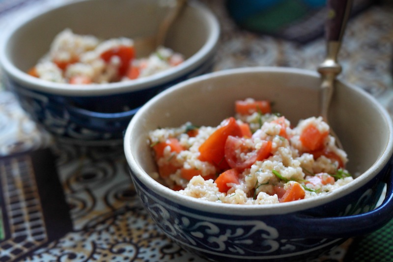 Bulgur salad with tomatoes, carrots, and feta (Eat Me. Drink Me.)