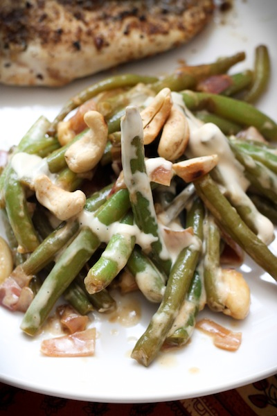 Green beans with fish sauce vinaigrette and cashews (Eat Me. Drink Me.)