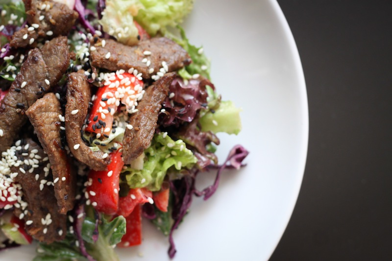 Asian-style grilled steak salad with peanut dressing recipe (Eat Me. Drink Me.)