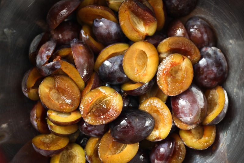 Picked and pitted plums (Eat Me. Drink Me.)