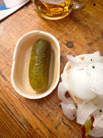 A juicy pickle (Eat Me. Drink Me.)