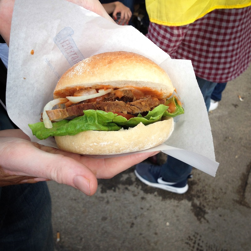 Ox burger at Oktoberfest (Eat Me. Drink Me.)