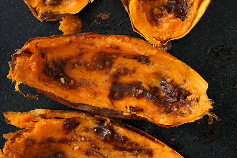 Sweet potato skins with chipotle sauce (Eat Me. Drink Me.)