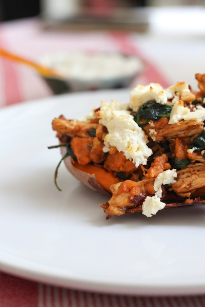 Sweet potato with feta and spinach (Eat Me. Drink Me.)