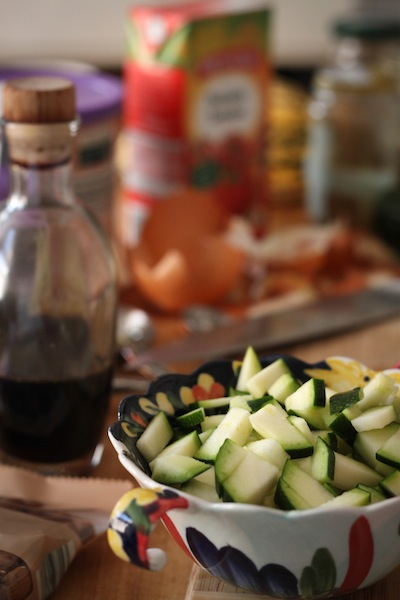 Diced zucchini (Eat Me. Drink Me.)