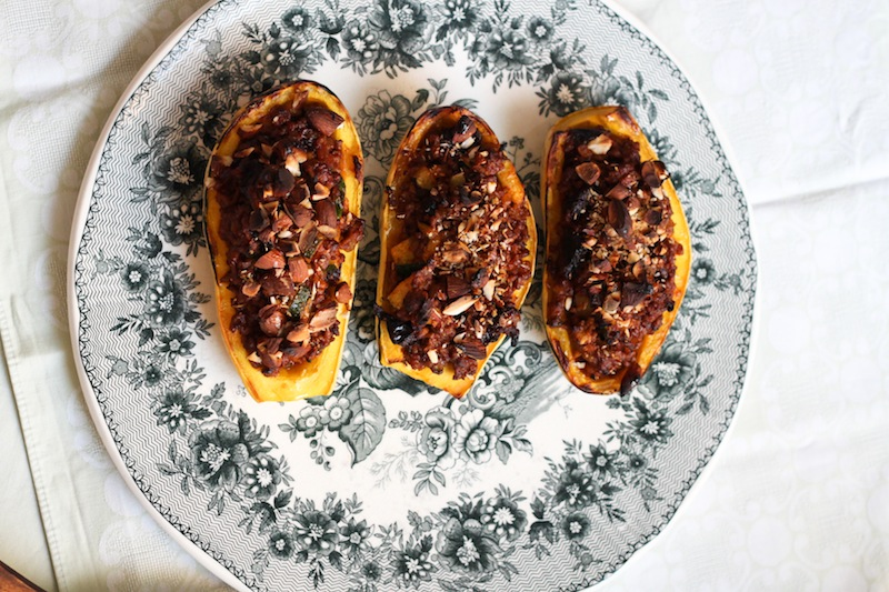 Roast almonds and delicata squash (Eat Me. Drink Me.)