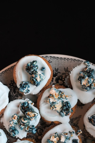 Blueberry and coconut cupcakes (Eat Me. Drink Me.)