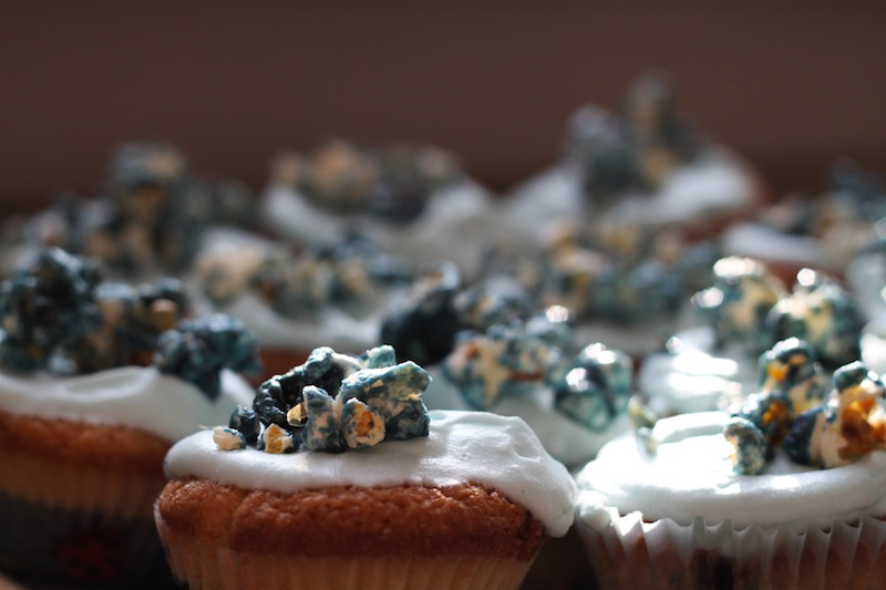 Boo-berry coconut cupcakes (Eat Me. Drink Me.)