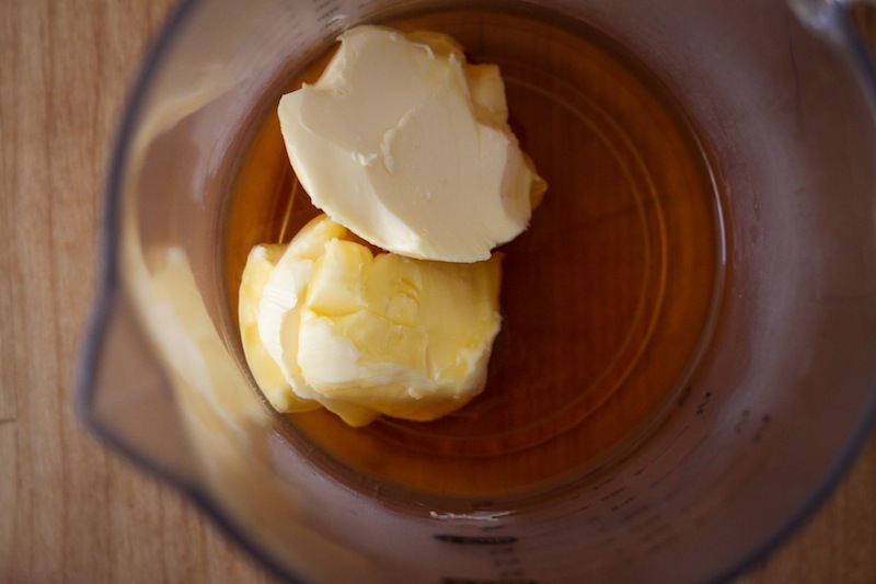 Bourbon and butter for the sweet potatoes (Eat Me. Drink Me.)