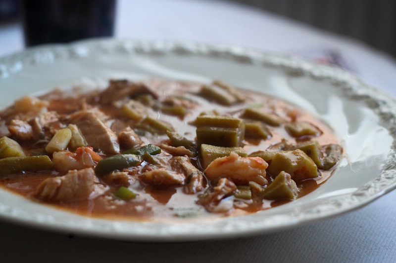 winter stew: chicken and shrimp gumbo (Eat Me. Drink Me.)