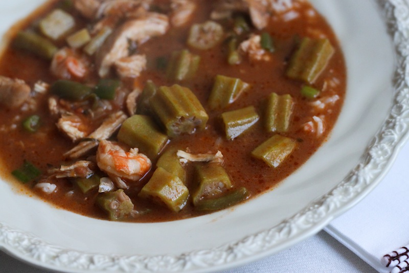southern favorites: chicken and shrimp gumbo (Eat Me. Drink Me.)