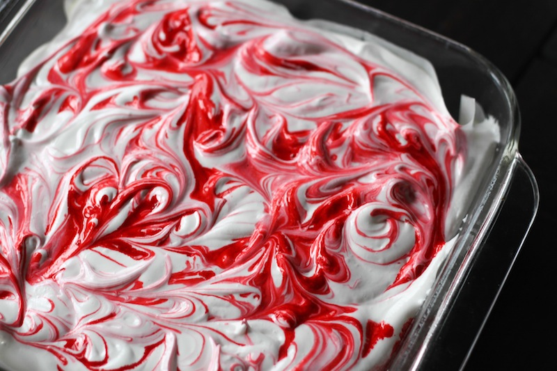 Red and white peppermint marshmallows (Eat Me. Drink Me.)
