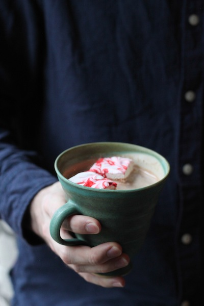 Hot chocolate with peppermint marshmallows (Eat Me. Drink Me.)