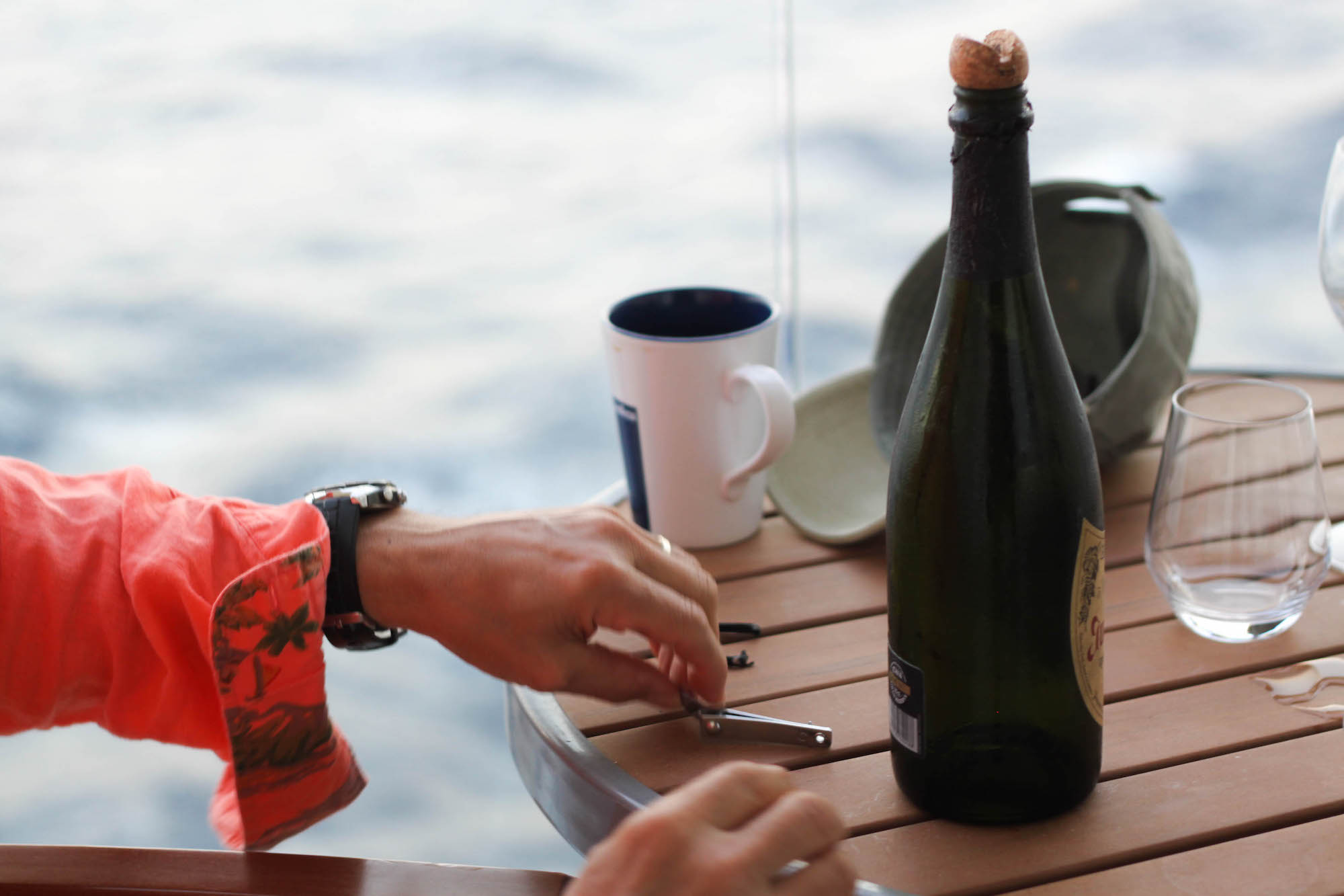 Champagne on the boat (Eat Me. Drink Me.)