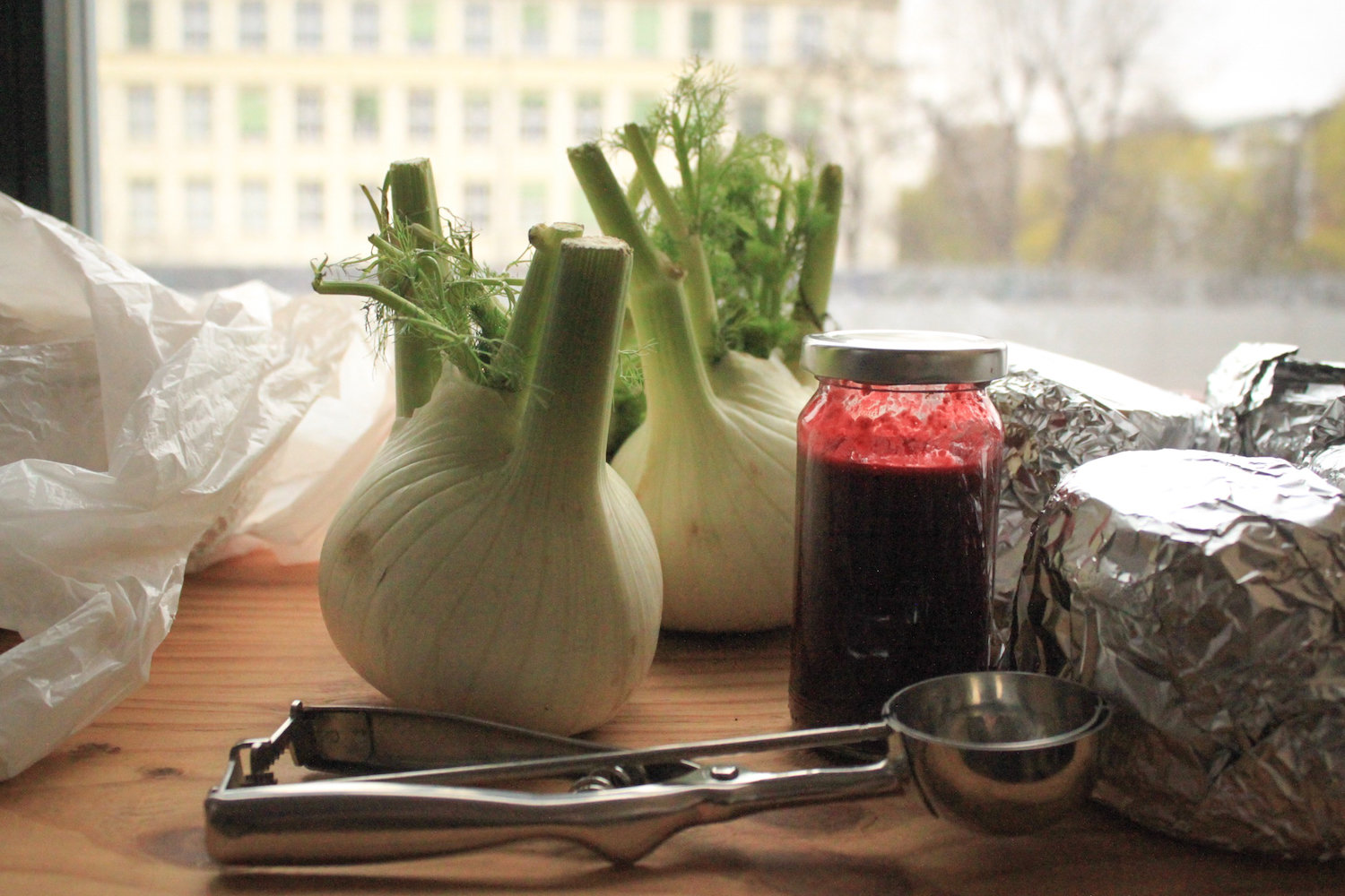 Fennel and raspberry coulis (Eat Me. Drink Me.)