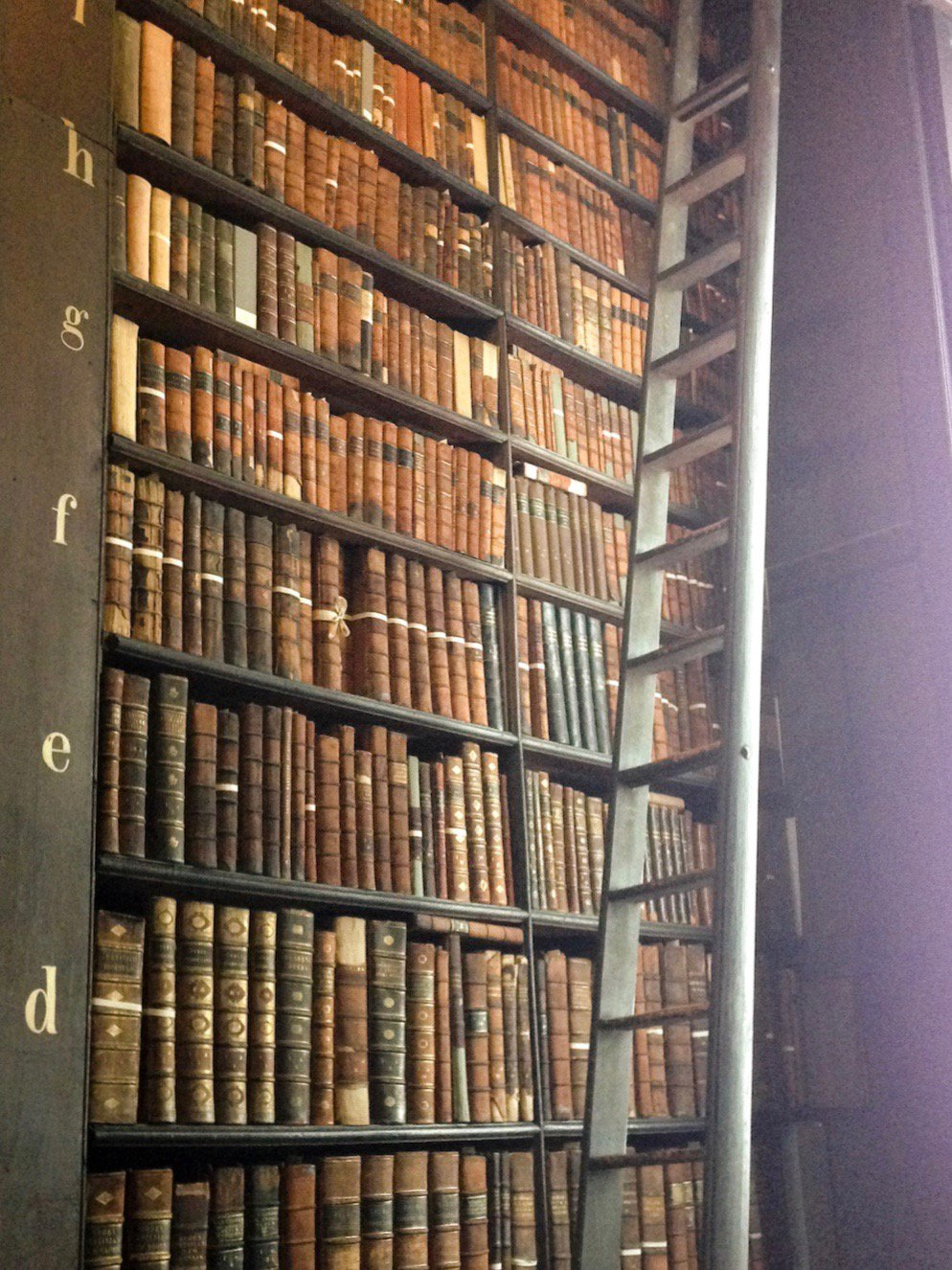 Lovely old books at Trinity College, Dublin (Eat Me. Drink Me.)