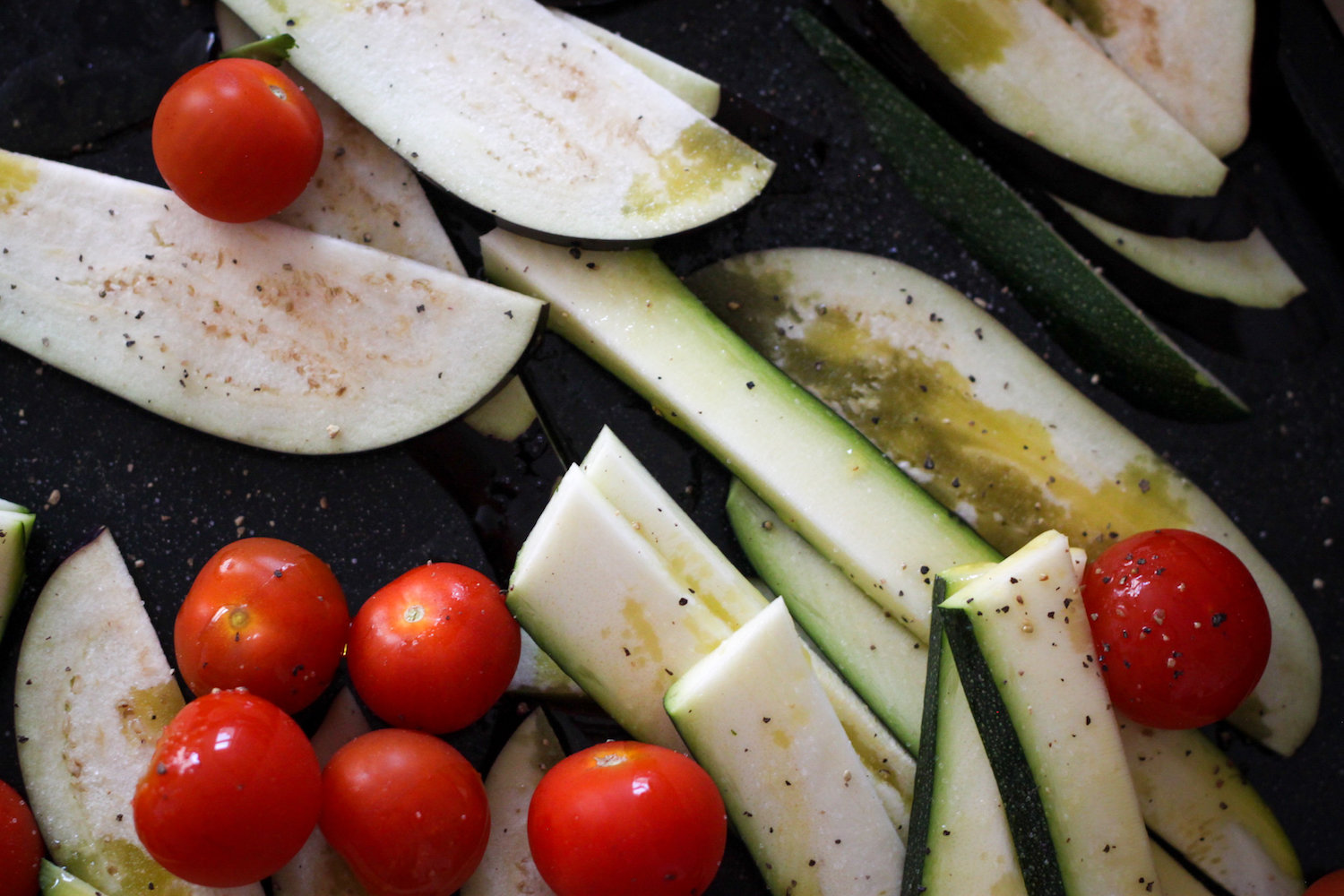 Roasting veggies for a Mediterranean summer salad (Eat Me. Drink Me.)