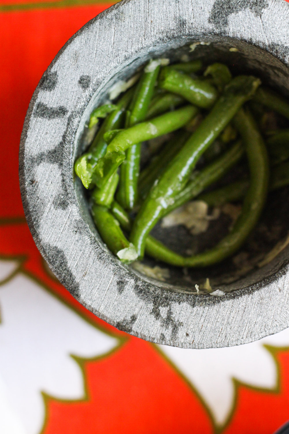 Crushing green beans (Eat Me. Drink Me.)