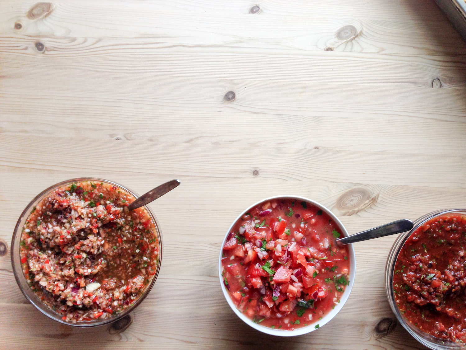 A trio of salsas (Eat Me. Drink Me.)