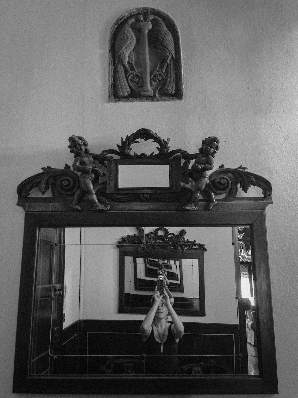 Old mirror in our palace apartment (Eat Me. Drink Me.)