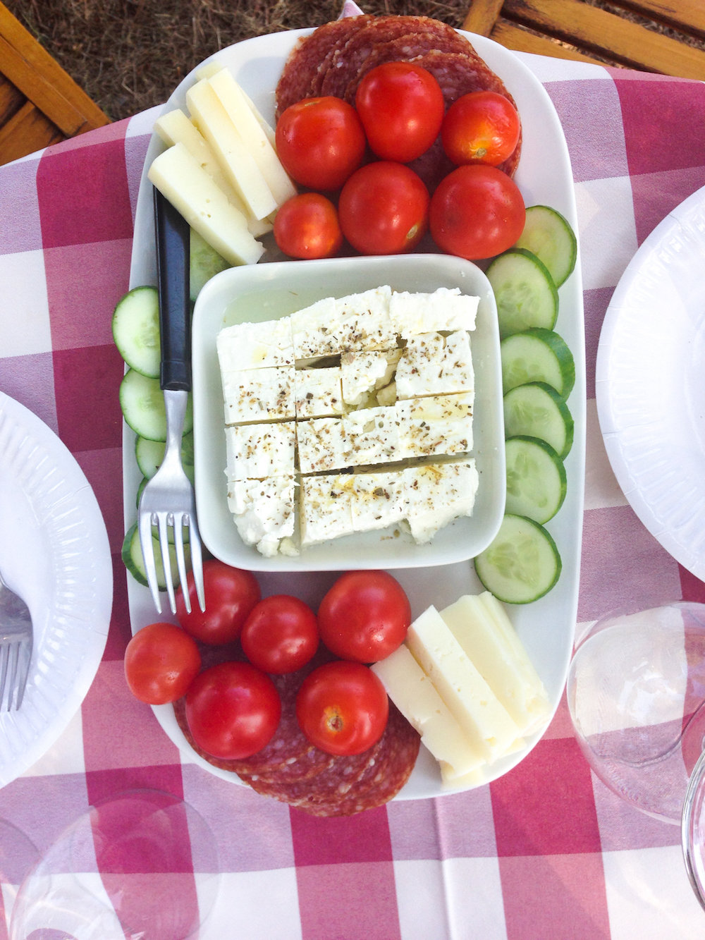 Fresh feta and vegetables (Eat Me. Drink Me.)