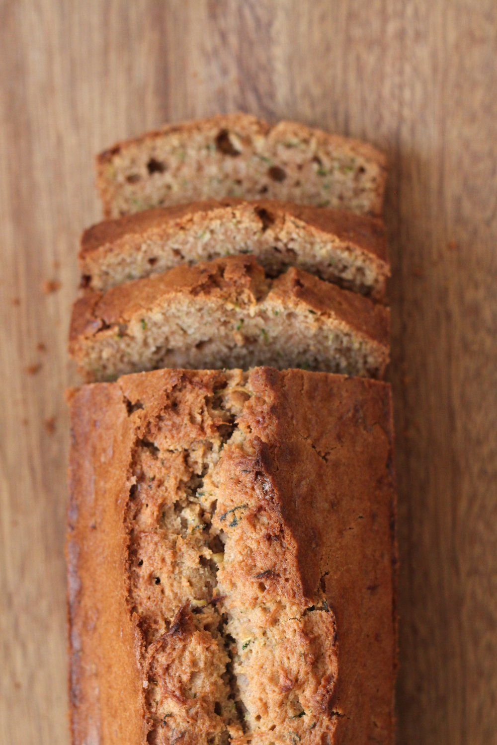 Sliced zucchini bread (Eat Me. Drink Me.)