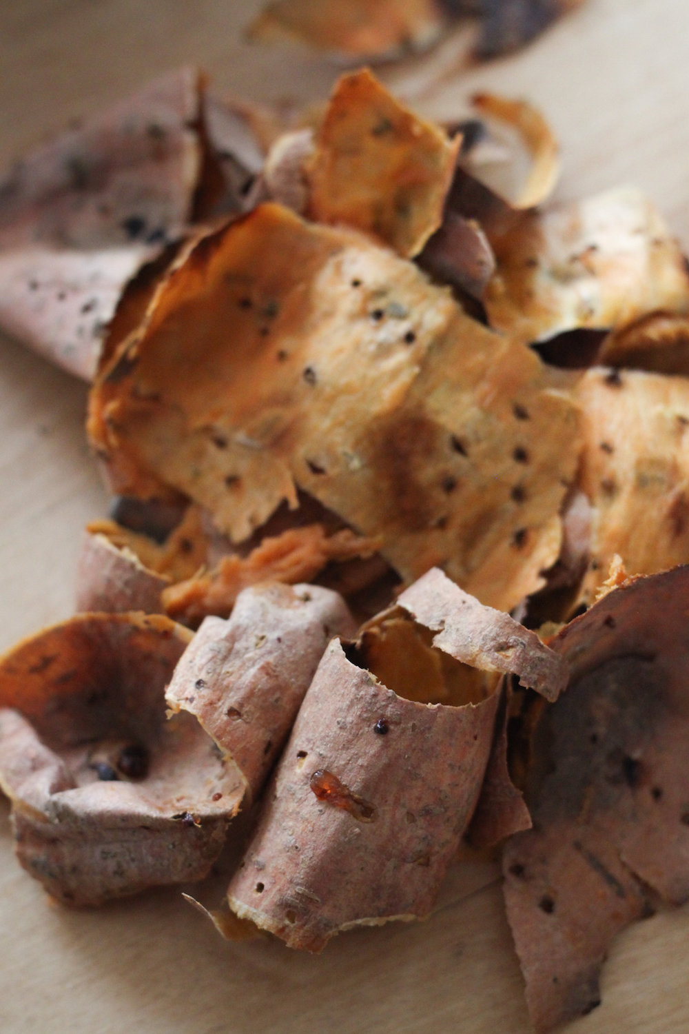 Sweet potato peels (Eat Me. Drink Me.)