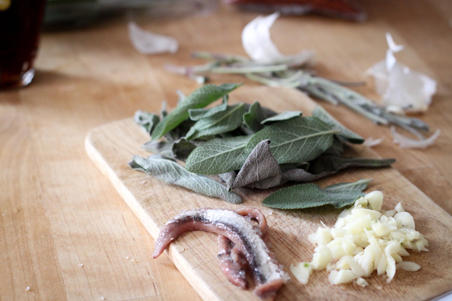 Anchovy, sage, and garlic (Eat Me. Drink Me.)