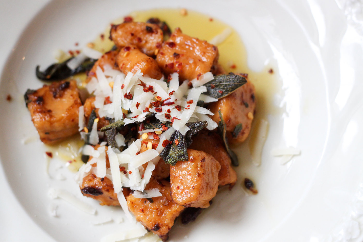 Sweet potato gnocchi with maple browned butter and sage recipe (Eat Me. Drink Me.)