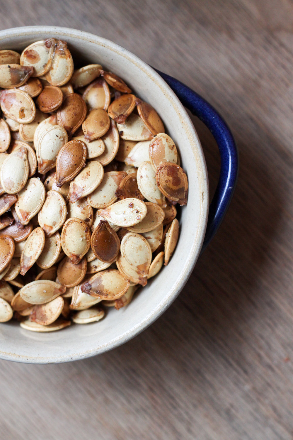 Roasted pumpkin seeds with Old Bay (Eat Me. Drink Me.)