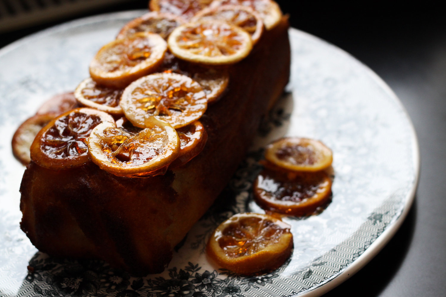 Lemon pound cake with candied lemons (Eat Me. Drink Me.)