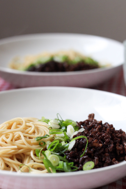 Two bowls of Chengdu ZaJiang Noodles (Eat Me. Drink Me.)