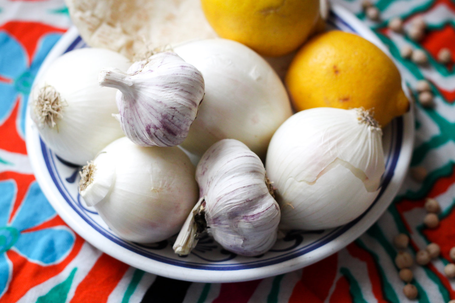 Onions, lemons, and garlic (Eat Me. Drink Me.)