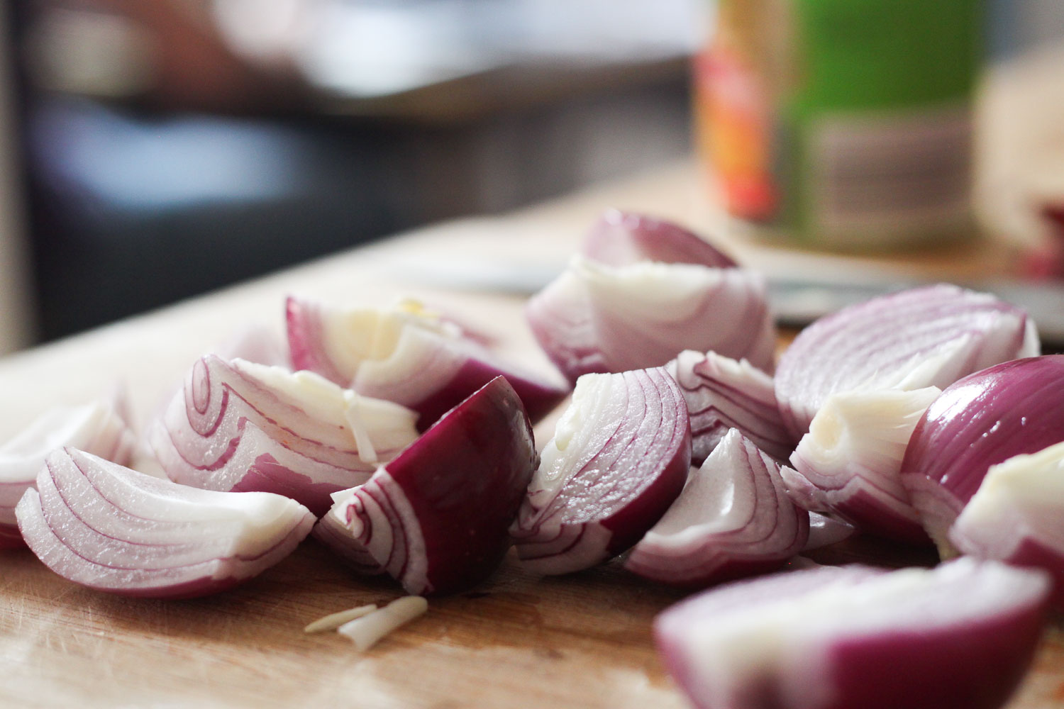 Quartered red onion (Eat Me. Drink Me.)