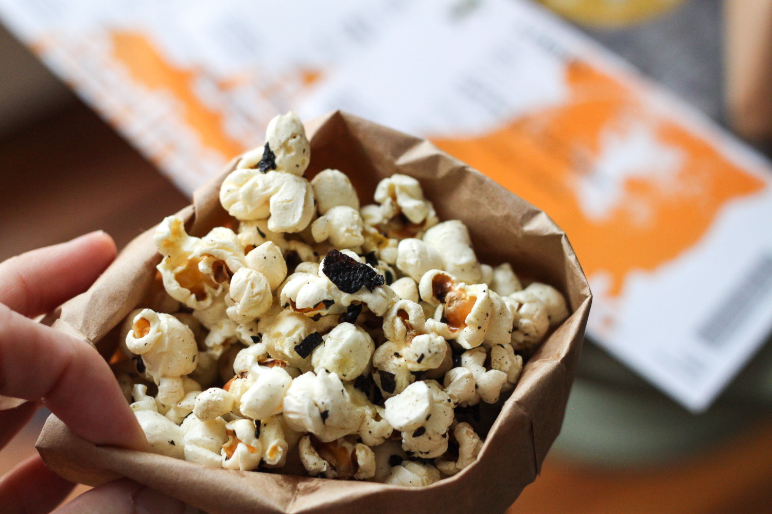 Nori & Sesame Buttered Popcorn Recipe (Eat Me. Drink Me.)