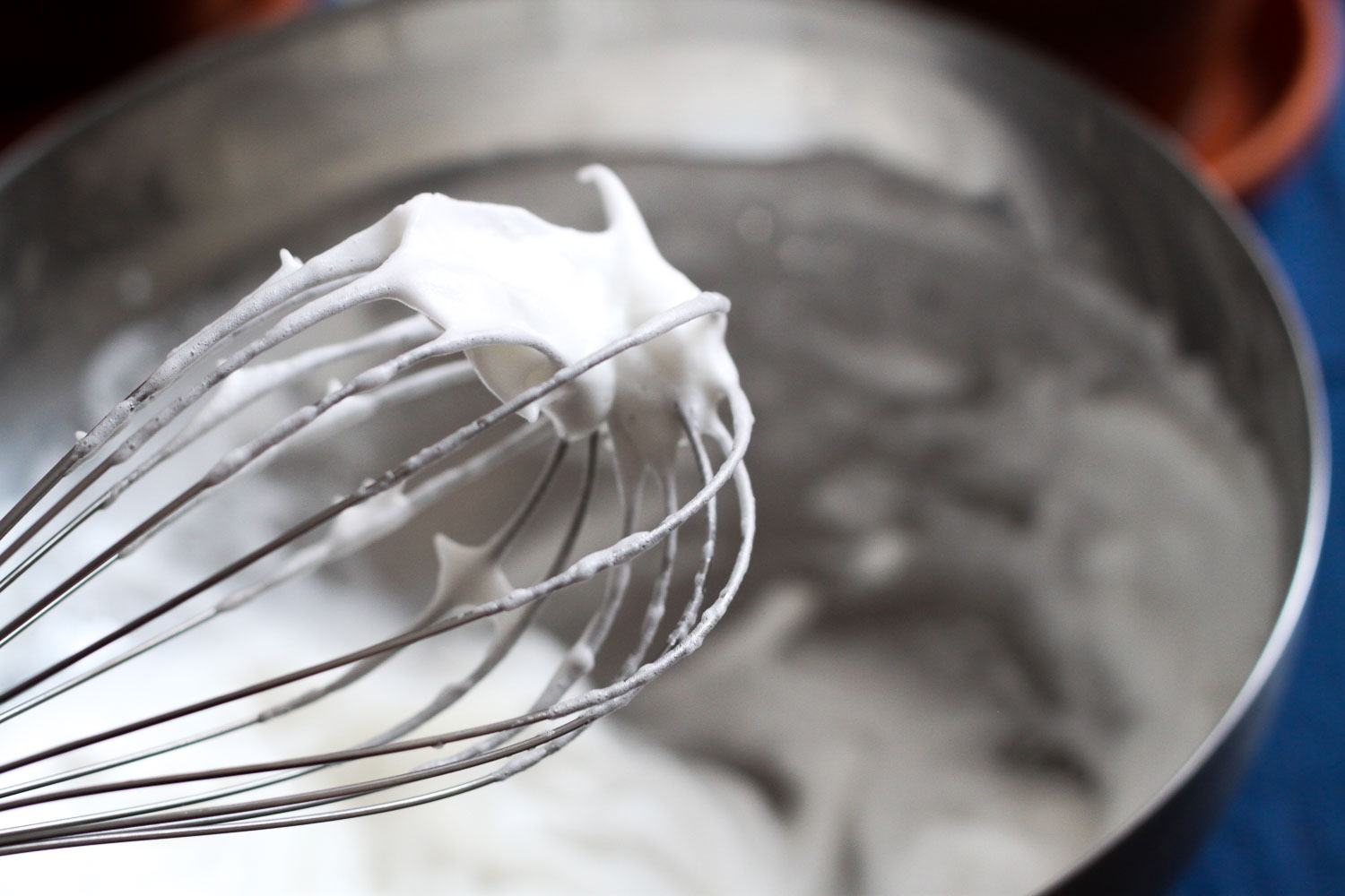 Whisking meringue (Eat Me. Drink Me.)