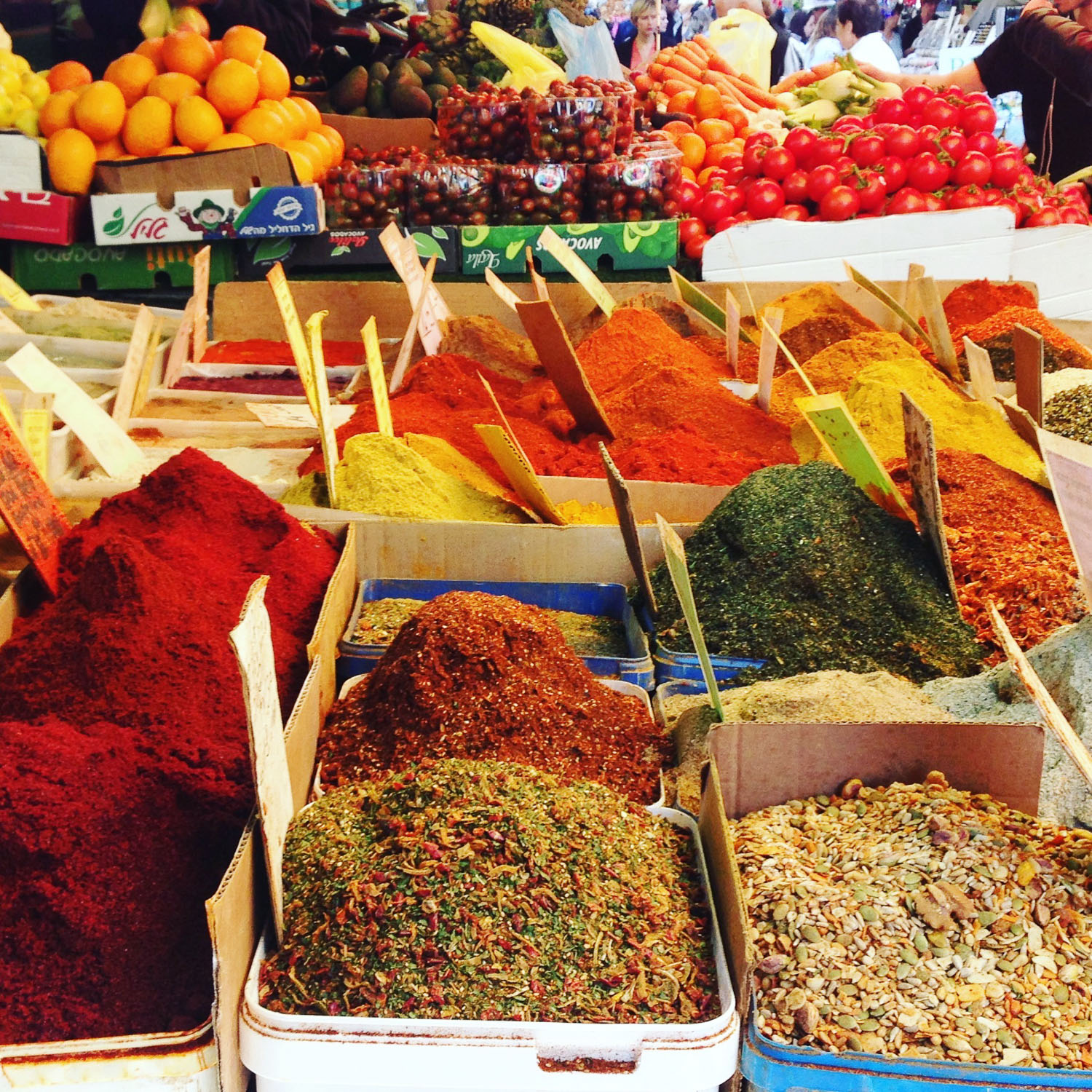 Spices in Carmel Market (Eat Me. Drink Me.)
