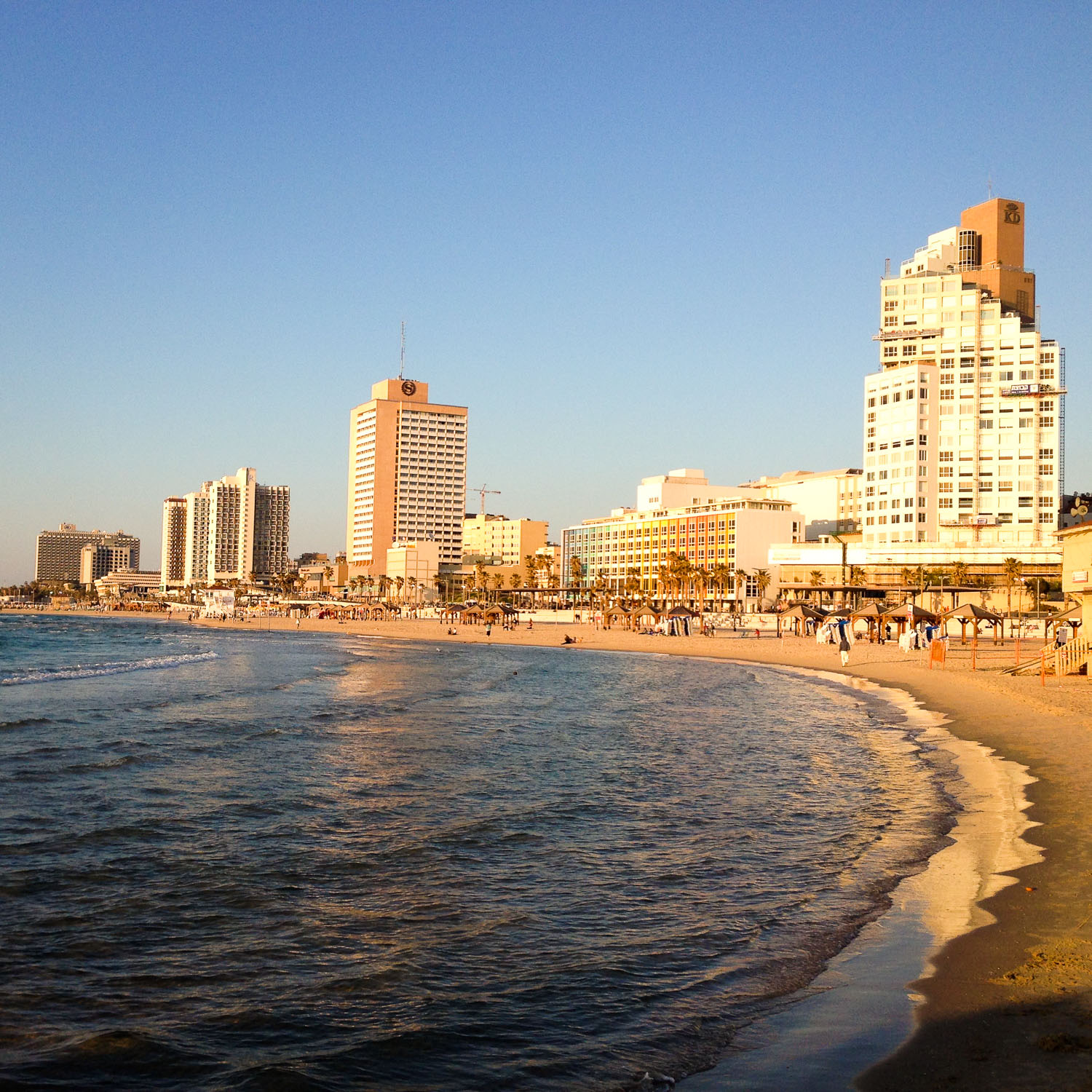 The Tel Aviv coastline (Eat Me. Drink Me.)