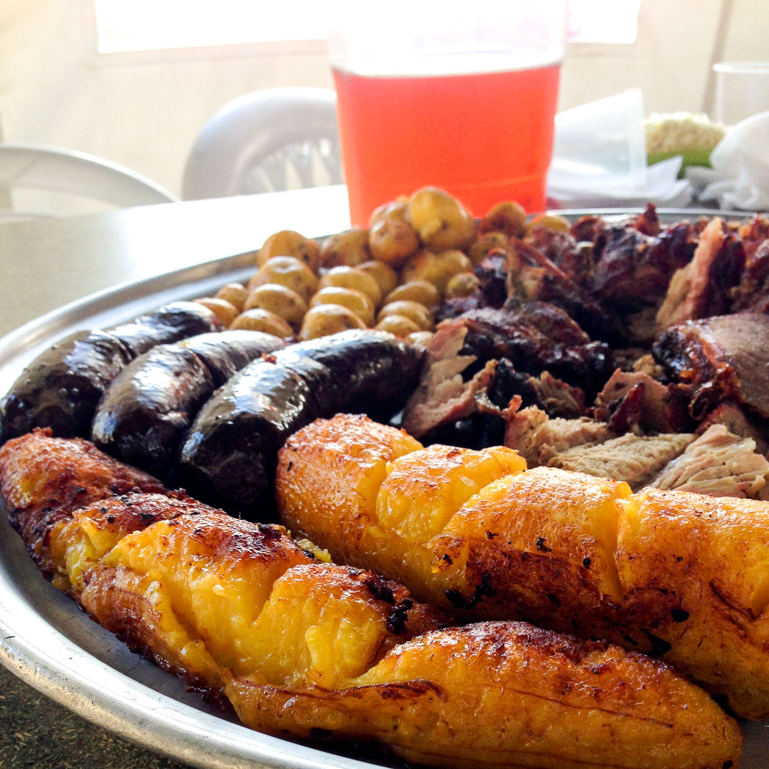 Potatoes, blood sausage, plantain, and barbecue in Colombia (Eat Me. Drink Me.)