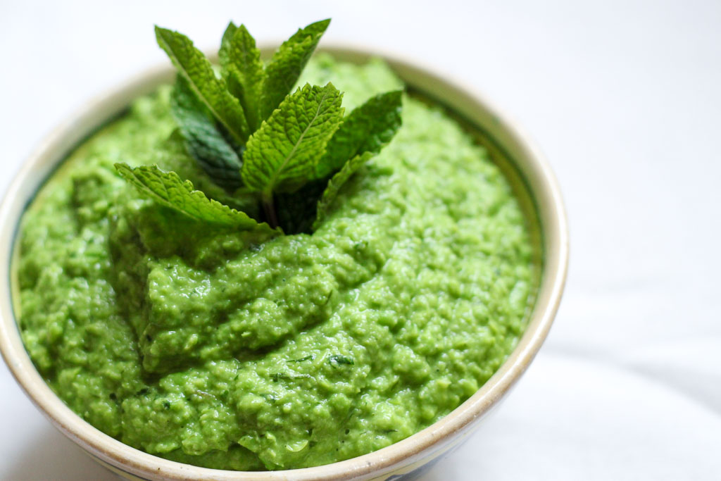Vegan dill and mint pea dip (Eat Me. Drink Me.)