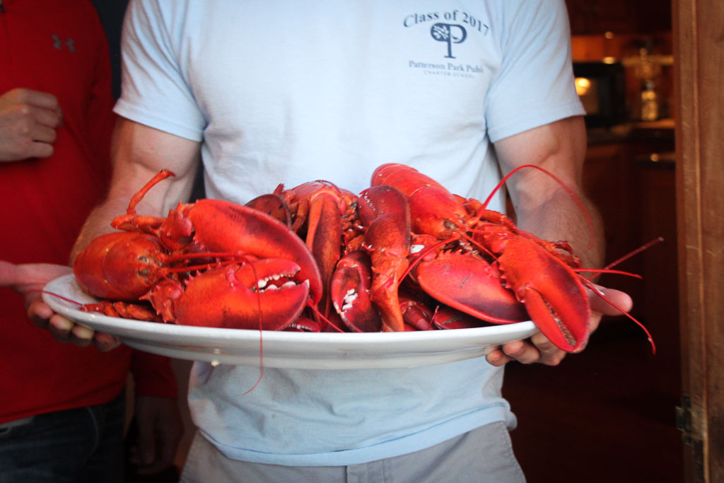 A platter of lobsters (Eat Me. Drink Me.)