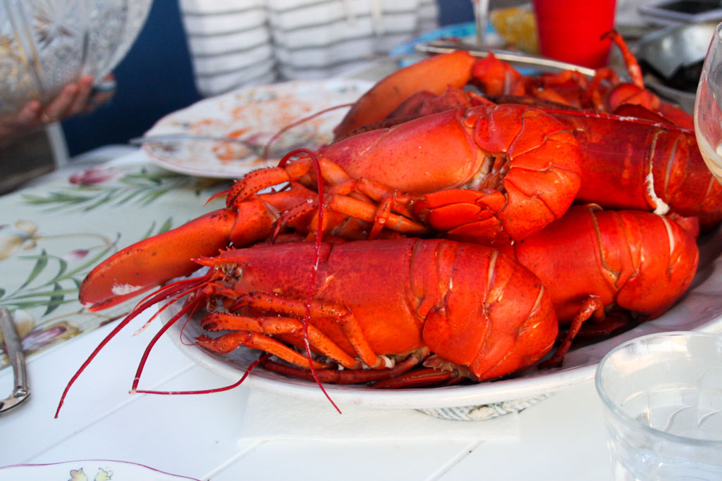 Fresh boiled lobsters (Eat Me. Drink Me.)