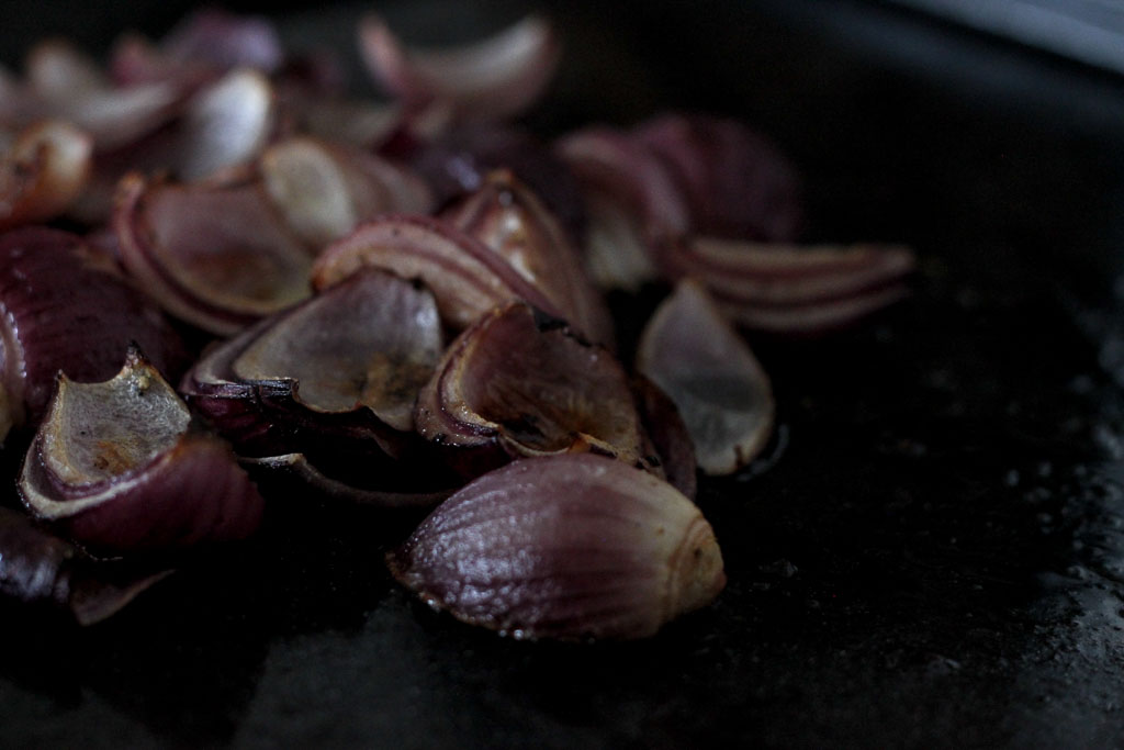 Roasted red onions (Eat Me. Drink Me.)