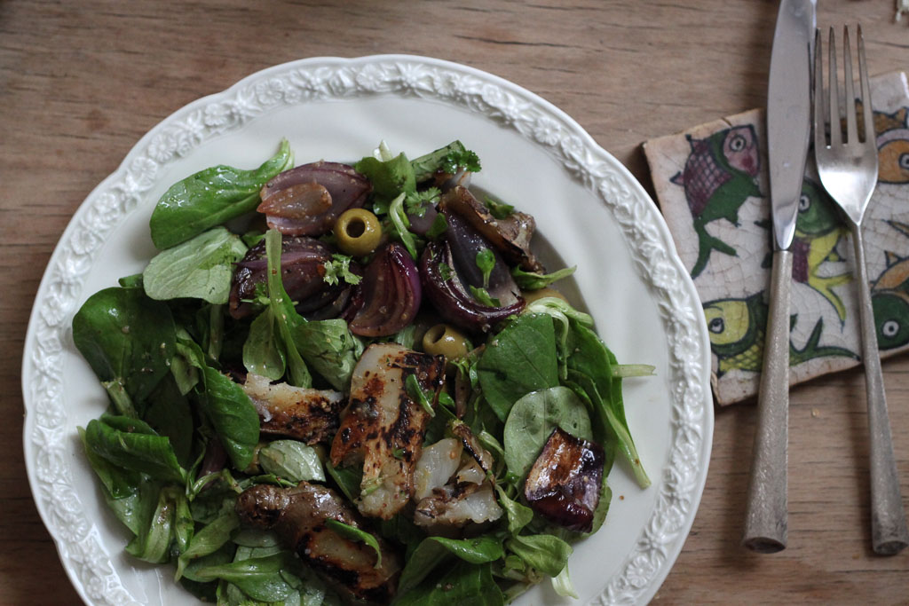 Grilled Jerusalem artichoke salad from Fergus Henderson (Eat Me. Drink Me.)