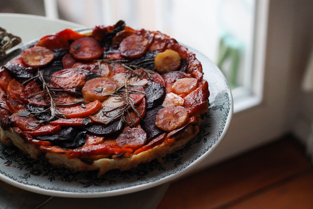 Winter vegetable tarte tatin (Eat Me. Drink Me.)