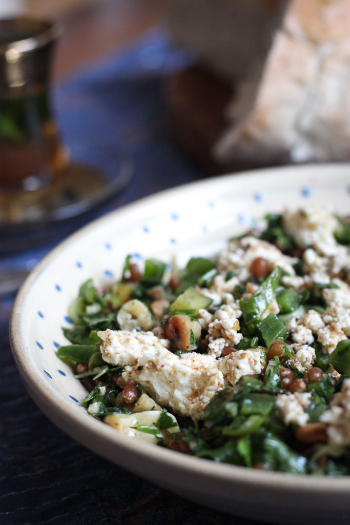 Wheat berry and parsley salad with feta (Eat Me. Drink Me.)