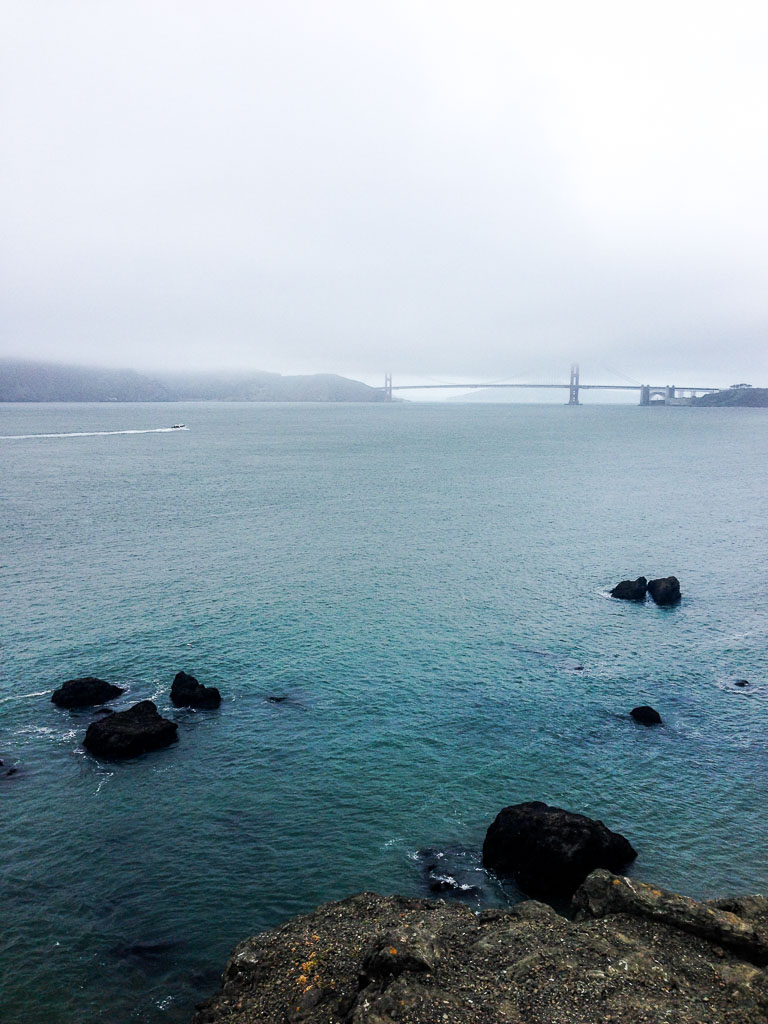 Golden Gate Bridge in fog, San Francisco (Eat Me. Drink Me.)