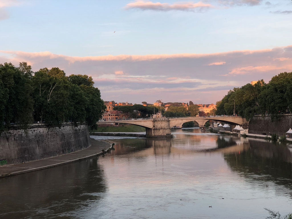 Tiber at sunset, Rome (Photo courtesy of Counter Service)