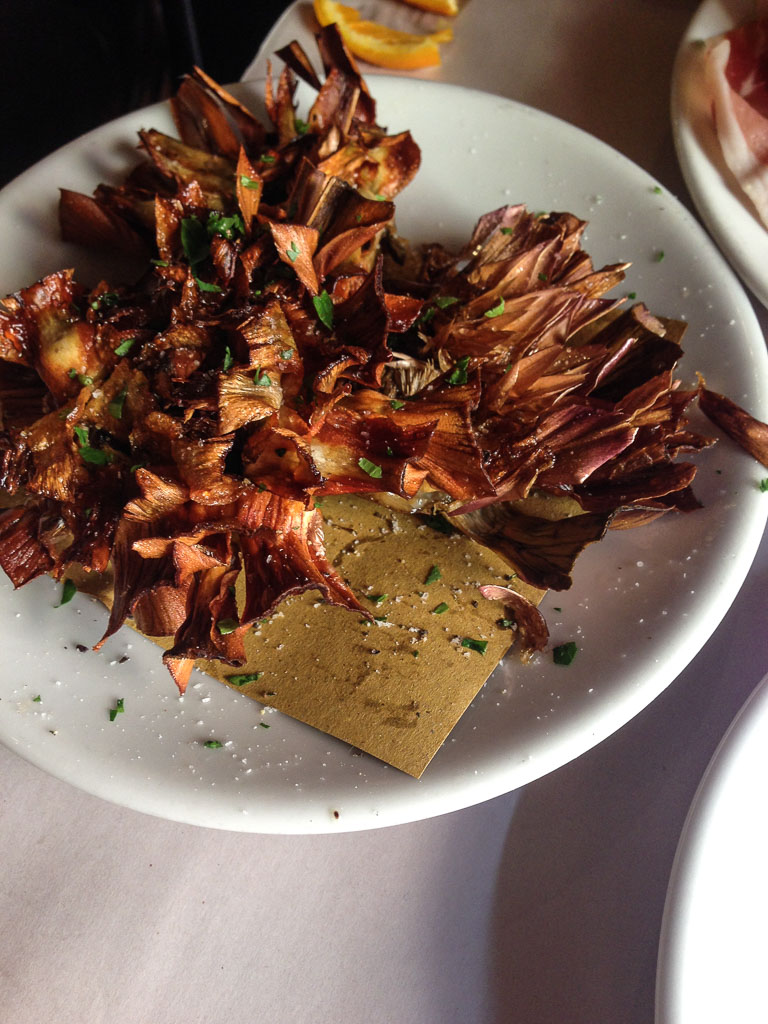 Fried artichoke, Rome (Eat Me. Drink Me.)