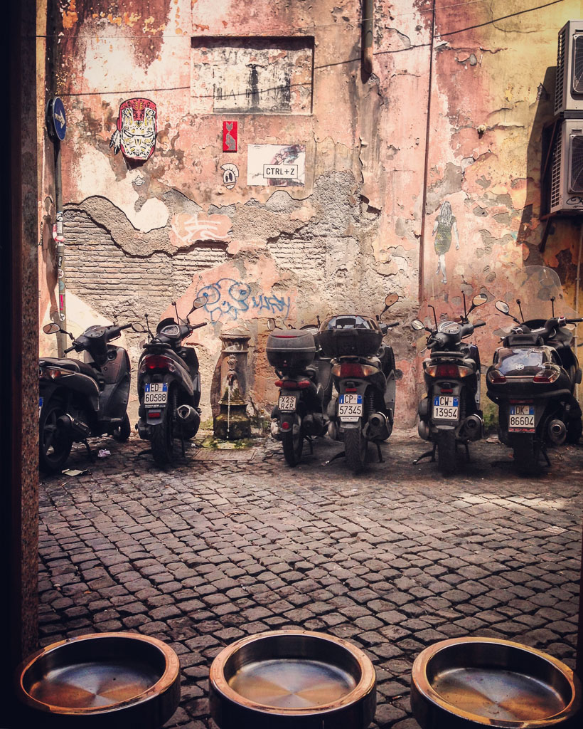 Mopeds in Rome, Italy (Eat Me. Drink Me.)